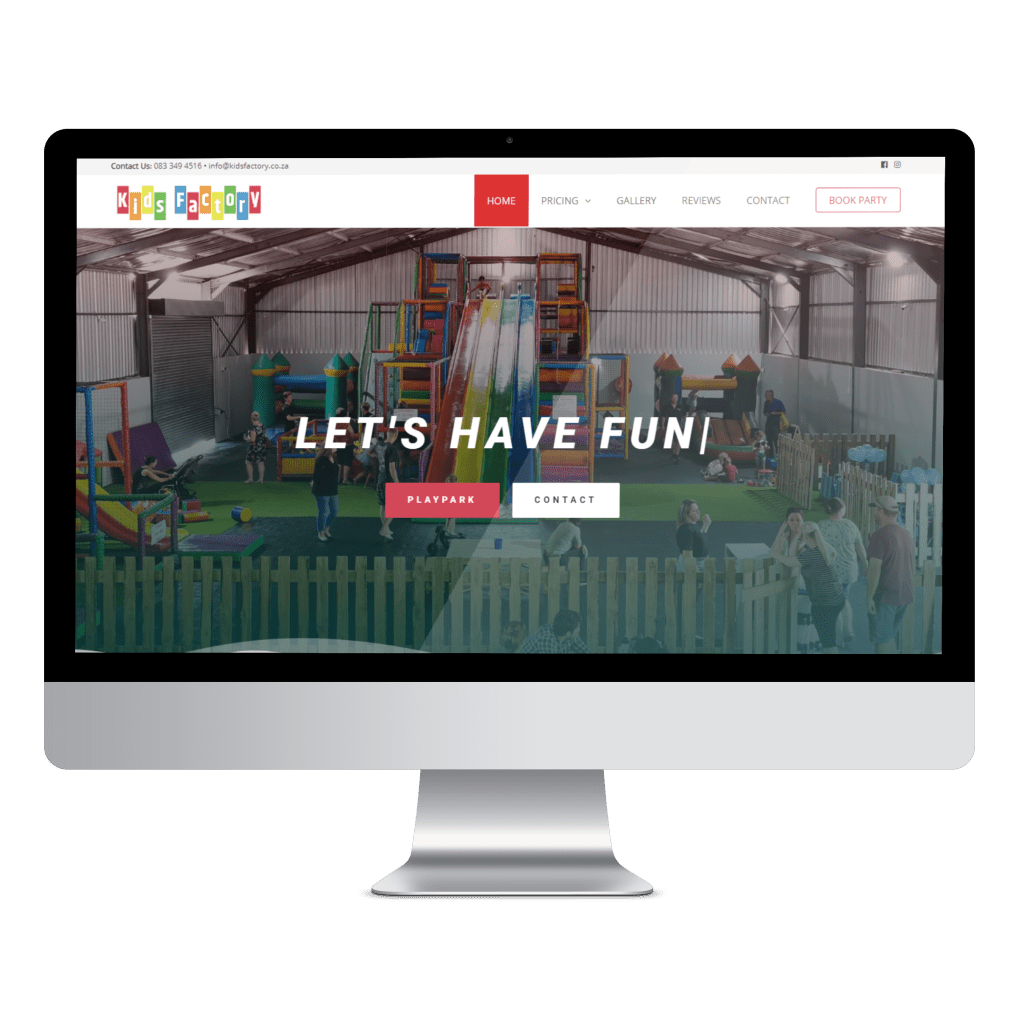 Kids Factory Website